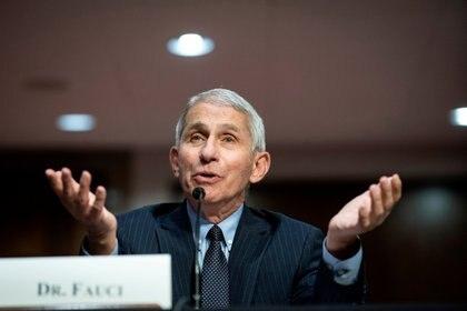 El principal epidemiólogo de gobierno estadounidense, Anthony Fauci. Foto: Al Drago/via REUTERS