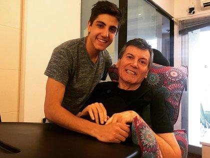 Carlín y su hijo Facundo