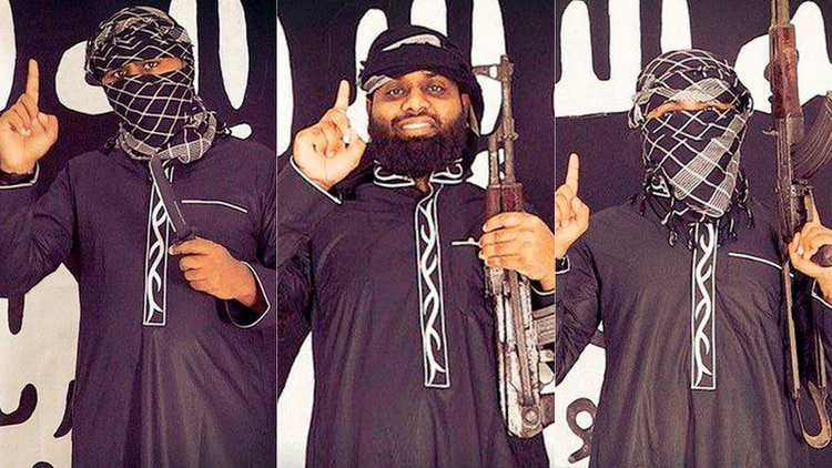 Tres presuntos atacantes suicidas del ISIS que habrían asistido en el ataque, de acuerdo simpatizantes del grupo. Esto no ha sido confirmado