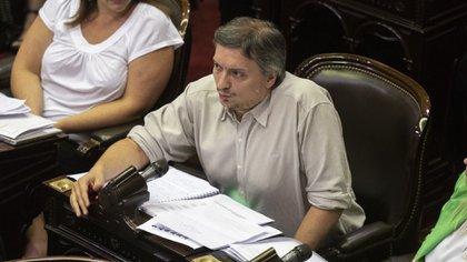 Máximo Kirchner, una de las espadas del oficialismo en la cámara de Diputados que le dio media sanción a la Emergencia Económica