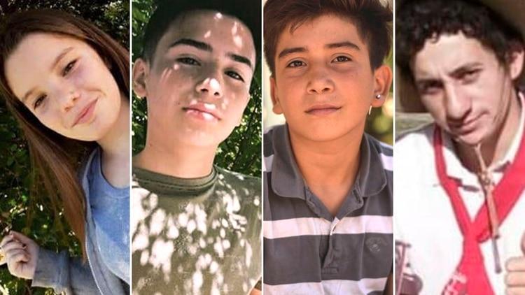 Camila, Gonzalo, Danilo y Aníbal, las víctimas de la trágicapersecución.