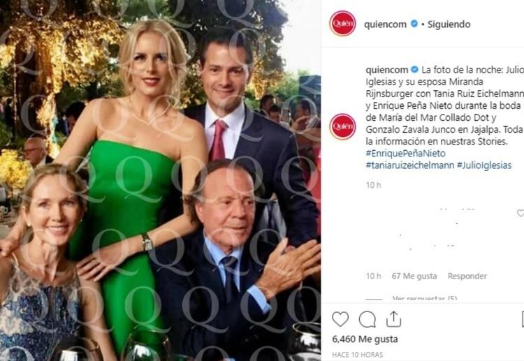Tania Ruiz acompañó a Peña Nieto a la boda en Jajalpa