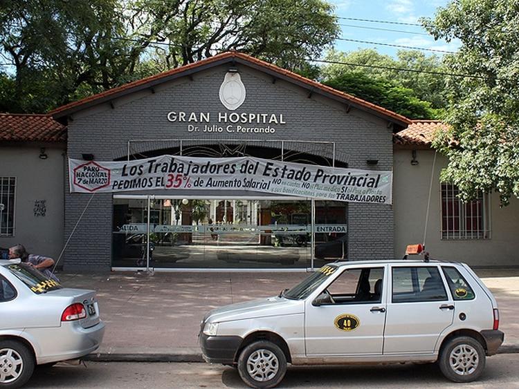 La fachada del Hospital Julio C. Perrando