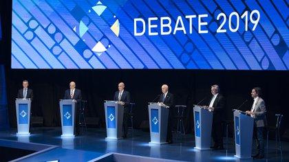 Los candidatos midieron fuerzas en el primer debate presidencial del año (Foto: Adrián Escandar)