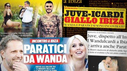 La prensa italiana advierte sobre el encuentro entre Wanda Nara y Fabio Paratici en Ibiza