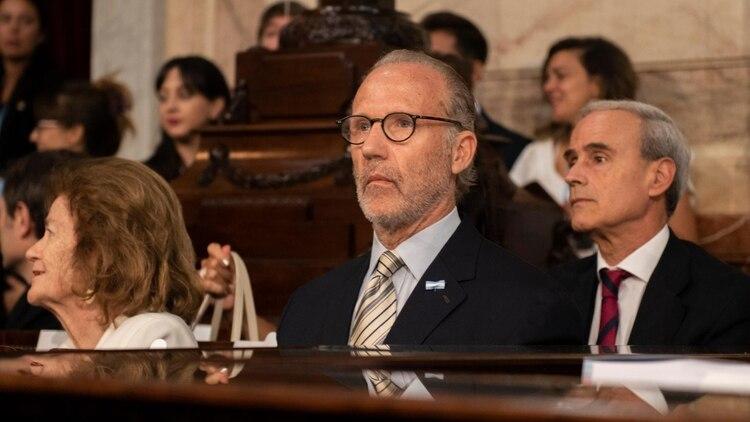 Carlos Rosenkantz, en la pasada apertura de sesiones del Congreso. Habilitó el trámite al pedido de CFK.