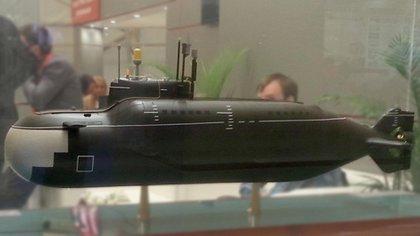 Maqueta de los minisubmarinos