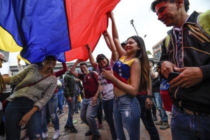 Protestas en Bogotá. (Photo by Juan BARRETO / AFP)