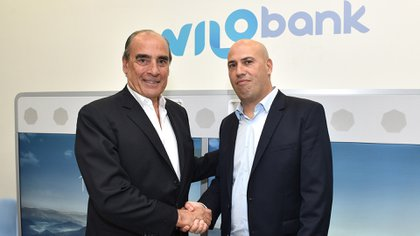 Guillermo Francos, presidente de Wilobank, y Darío Wasserman, presidente de Garantizar