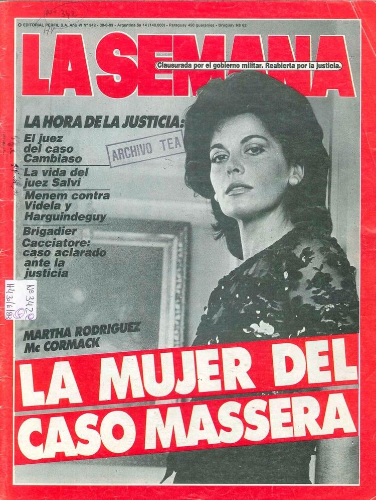 Martha McCormack en la portada de la revista