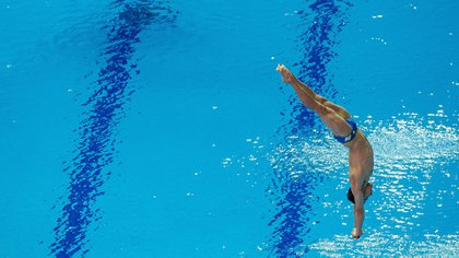 The diver Rommel Pacheco won his pass to the Olympic Games in Tokyo 2020, after having qualified for the final in the 2019 Swimming World Championships in Gwangju (Photo: EFE)