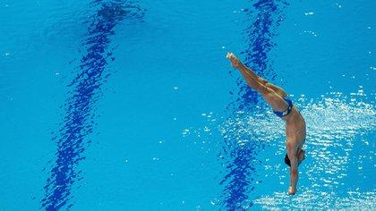 Le plongeur Rommel Pacheco a remporté son laissez-passer pour les Jeux Olympiques de Tokyo 2020, après s'être qualifié pour la finale des Championnats du monde de natation 2019 à Gwangju (Photo: EFE)