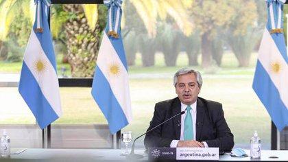 Alberto Fernández, al anunciar ayer una nueva extensión de la cuarentena. Unas horas después, salió el DNU sobre Vicentin.