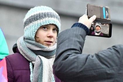 Greta Thunberg (TT News Agency/Claudio Bresciani/vía REUTERS)