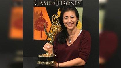 Mariana Gorbea, egresada de la IBERO fue premiada con un Emmy por su realización de efectos especiales en el quinto capítulo de la última temporada de GOT (Foto: Facebook Mariana Gorbea)