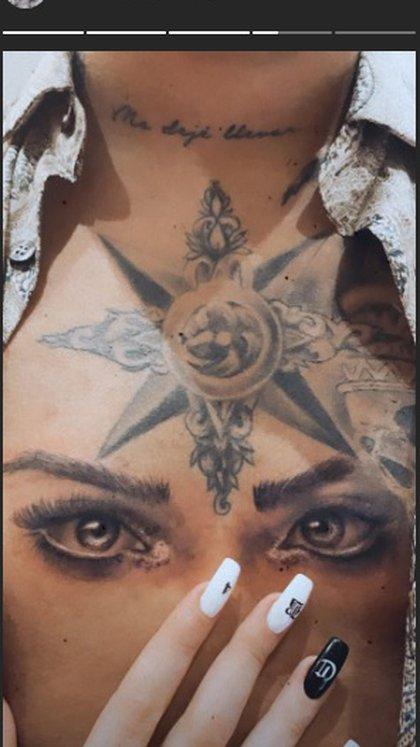 Belinda presumió el tatuaje de su novio en honor a ella