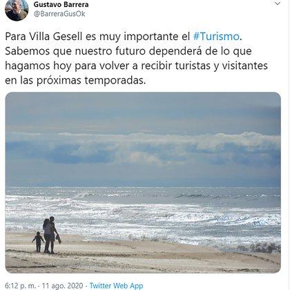 El Intendente de Villa Gesell, Gustavo Becerra, también manifestó la importancia de recibir turistas y visitantes en la próxima temporada.