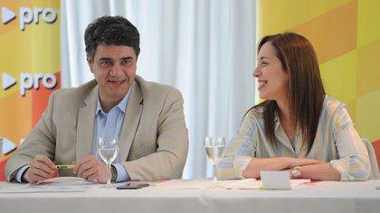 El intendente de Vicente López, Jorge Macri, junto a la ex gobernadora bonaerense María Eugenia Vidal