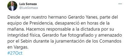 El mensaje de Luis Somaza