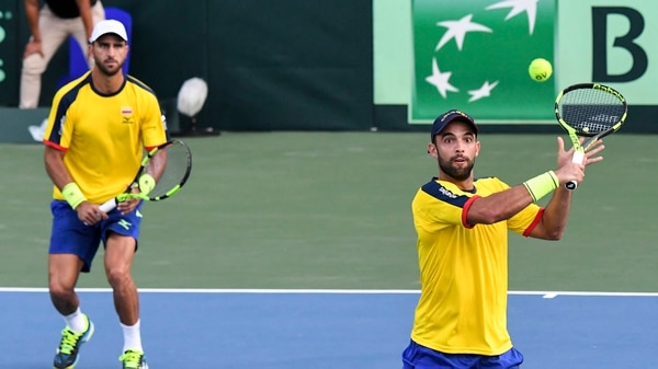 Juan Sebastian Cabal y Robert Farah, el punto fuerte de Colombia en Copa Davis (AFP)