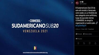 Colombia ya no será la sede del Sudamericano sub-20 de la Conmebol en su edición 2021