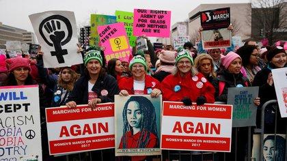 La marcha principal se realizó en Washington DC frente al Capitolio (Reuters)