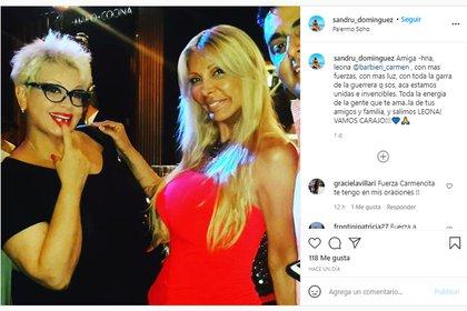El emotivo posteo de Sandra Domínguez para Carmen Barbieri
