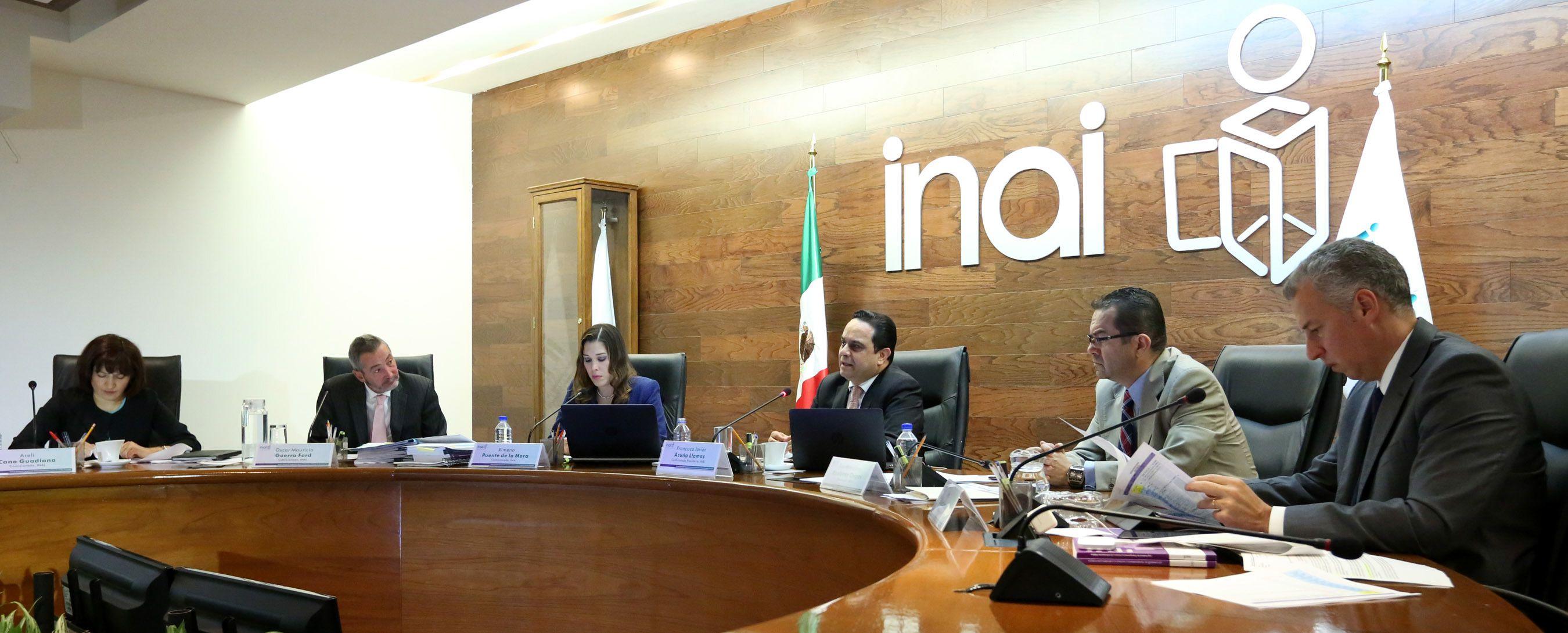 Sesión pública del pleno del INAI FOTO: INAI /Cuartoscuro