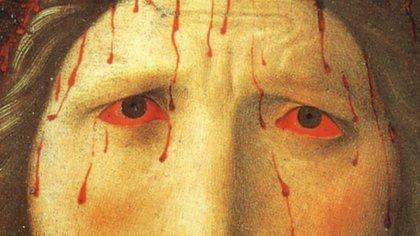 """Detalle de """"Cristo coronado de espinas"""", de Fra Angelico (1395-1455)"""