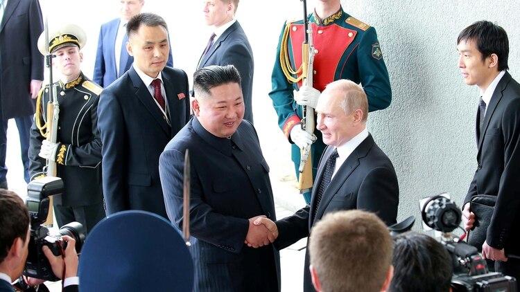 Kim Jong-uny Vladimir Putin (KCNA)
