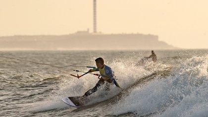 El Campeonato Mundial de kitesurfing se llevó a cabo aquí .  (AFP)