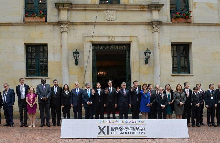 El Grupo de Lima (Diana Sanchez / AFP)
