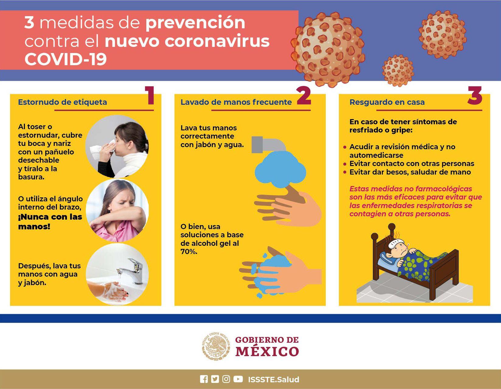 Estas son algunas de las recomendaciones de la Secretaría de Salud (Foto: Twitter/ @SSalud_mx)