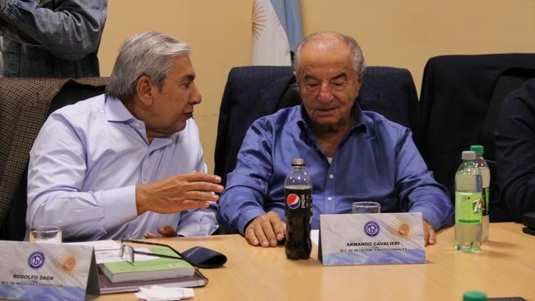 Rodolfo Daer junto a Armando Cavalieri (Foto: CGT)