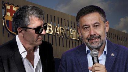 Jorge Messi, padre y representante de Lionel, y Josep Maria Bartomeu, presidente del Barcelona (Shutterstock - Reuters - AFP)
