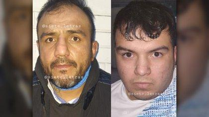 """En la fotografía, """"El Pipis"""" (izquierda) detenido este miércoles en el Centro Histórico; """"El Irving"""" (derecha) líder de la Unión Tepito y sobrino del """"Pipis"""" (Foto: Twitter/@siete_letras)"""