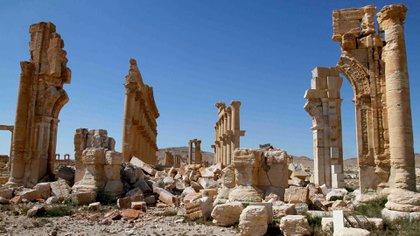 Palmira fue prácticamente destruida por el Estado Islámico