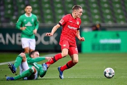 Florian Wirtz ha sumado muchos minutos y ha convertido goles en el primer equipo del Bayer Leverkusen (REUTERS)