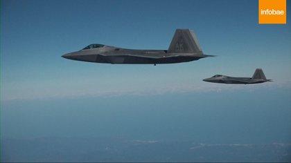 Los F-22 Raptor también participaron del ejercicio