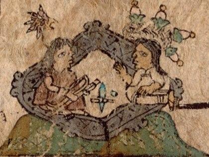 Tlotzin and his wife Photo: (Codex Xólotl)