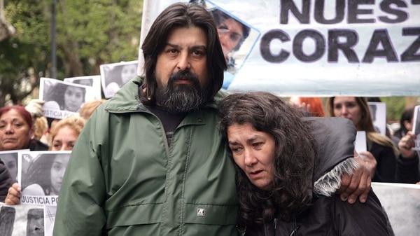 Guillermo Pérez y Marta Montero, padres de Lucía (Télam)