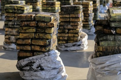 La exportación de cocaína camuflada en productos vegetales, como el carbón, confirma que el mercado europeo está en demanda del narcótico.  October 20, 2020. REUTERS/Jorge Adorno