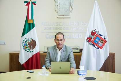 Martín Orozco, gobernador de Aguascalientes Foto: Twitter / @MartinOrozcoAgs