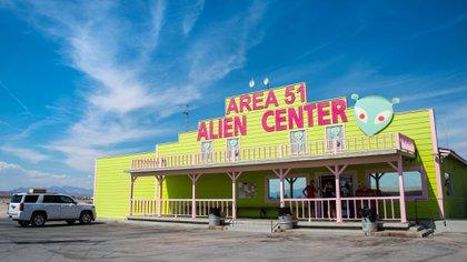 """Área 51. Alien Center"", un local en Amargosa Valley"