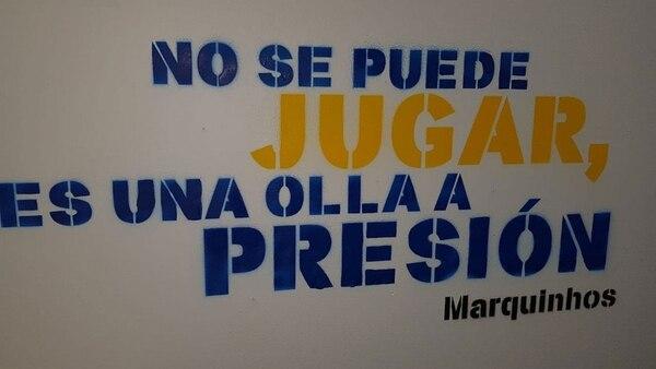 """""""No se puede jugar, es una olla a presión"""": Marquinhos"""