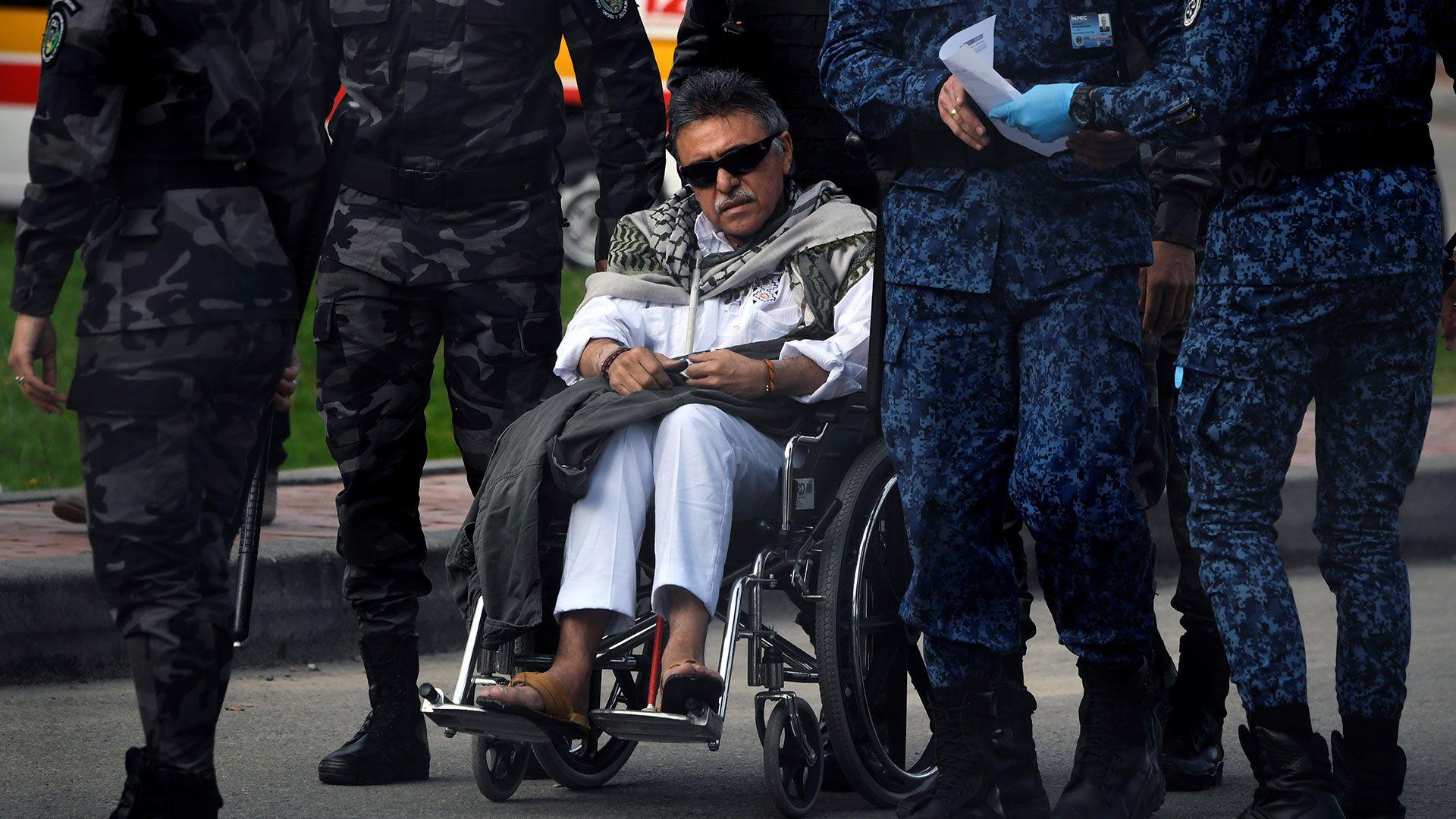 """""""Jesús Santrich"""" salió de la cárcel de La Picota el 17 de mayo de 2019 y fue recapturado segundos después por la Fiscalía con presuntas nuevas evidencias en su contra (AFP)"""