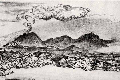 Croquis a lápiz del pintor Gerardo Murillo, 'Dr. Atl', de 1950 (Foto: Especial)