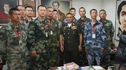Militares chinos en la Escuela de Operaciones Especiales de Venezuela, julio 2019