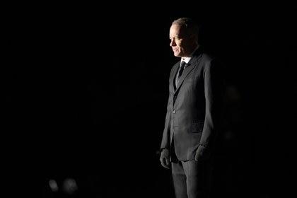 Tom Hanks en el Lincoln Memorial.