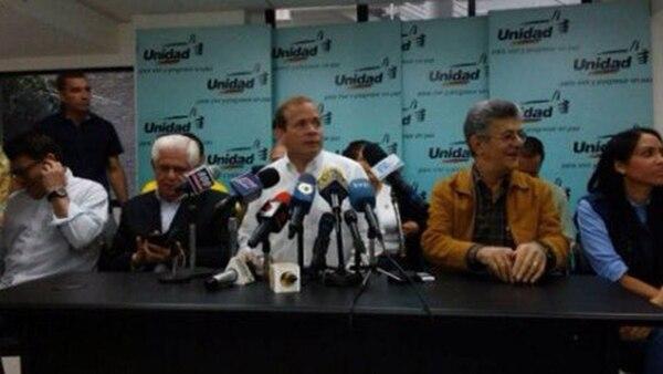 La MUD brindó una conferencia de prensa, a hora del cierre de la campaña electoral